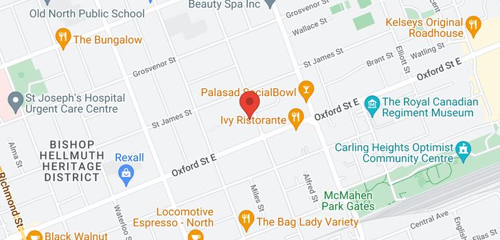 map of 791 WILLIAM STREET