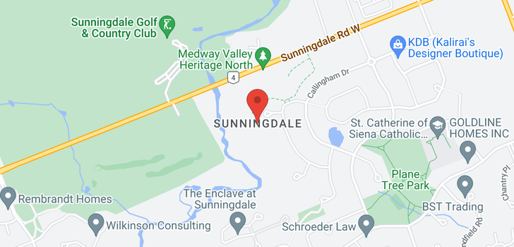 map of 1597 SUNNINGDALE ROAD E