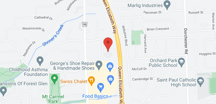 map of 29 -  7470 Monastery Drive