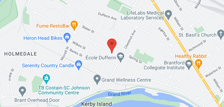 map of 69 ST PAUL Avenue