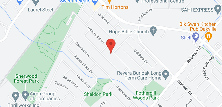 map of 582 Fothergill Boulevard