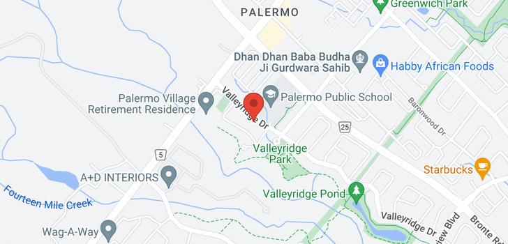 map of 2568 Valleyridge Drive