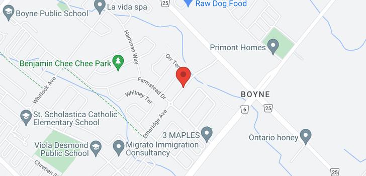 map of 298 Etheridge Ave
