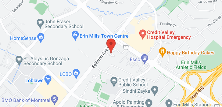 map of 2520 Eglinton Ave W
