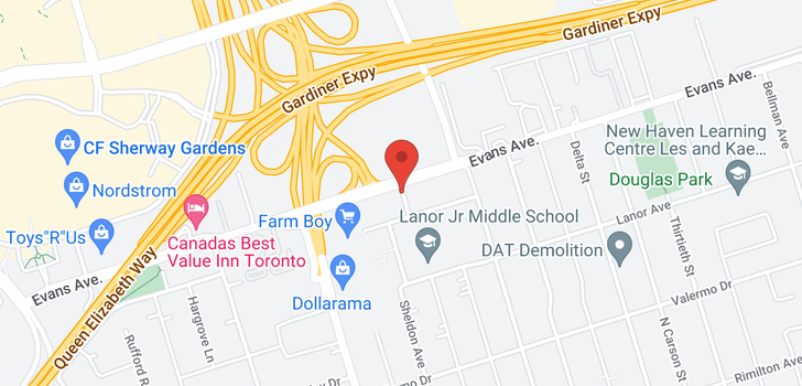 map of  581 Evans Ave