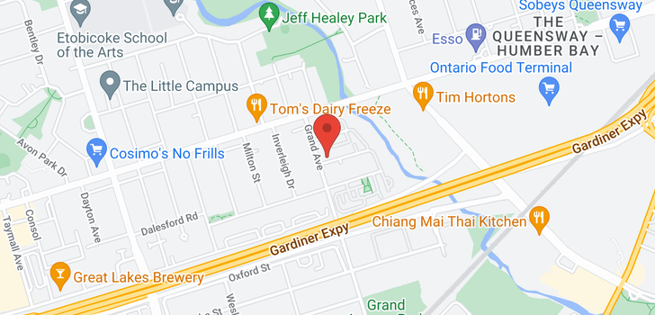 map of  115 Grand Ave