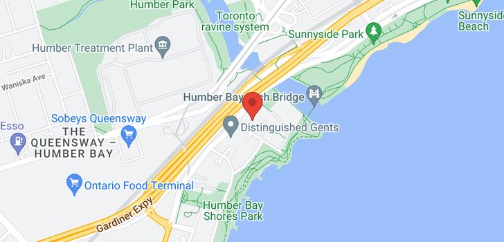 map of 2505 2045 Lake Shore Blvd W