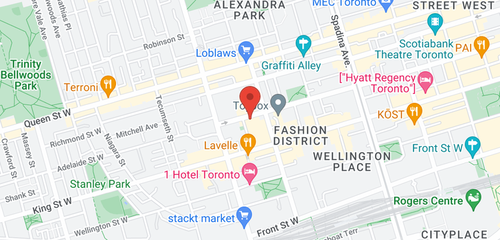map of 501 Adelaide St W