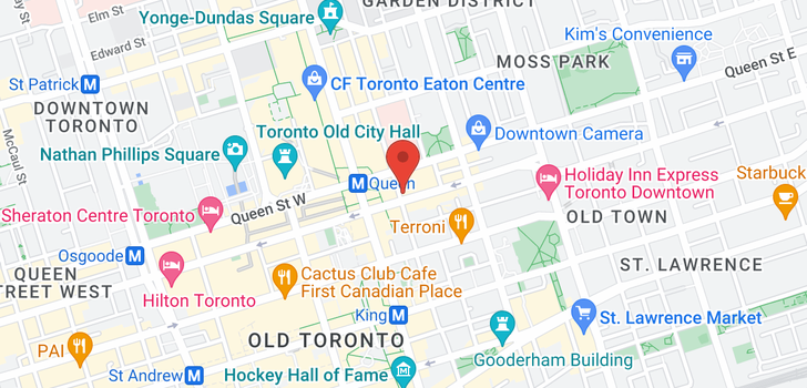 map of 1106 105 Victoria St