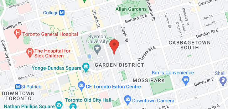 map of 1006 155 Dalhousie St