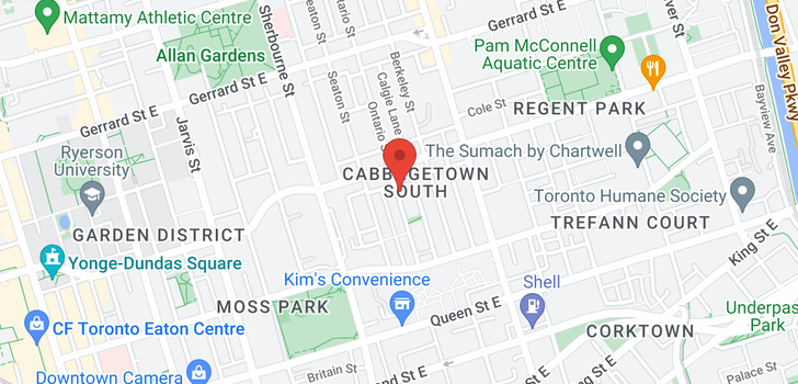 map of  265 Ontario St