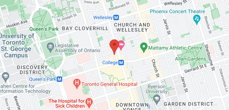 map of 510 7 Grenville St