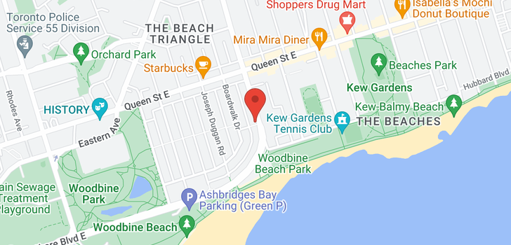 map of  62 Woodbine Ave