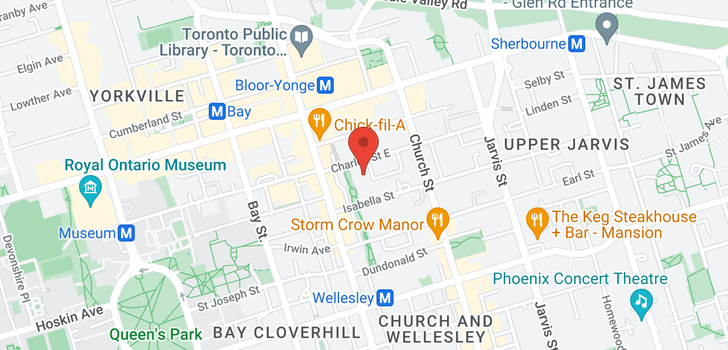 map of 33 Charles St E