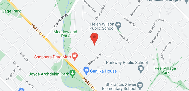 map of  12 Lawrence Cres