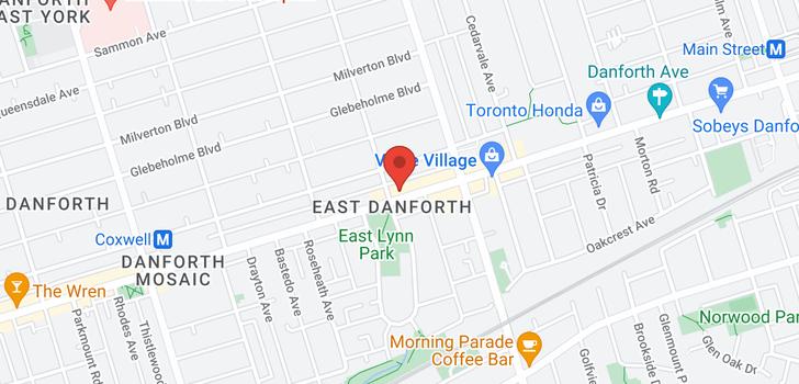 map of 1972 DANFORTH AVE