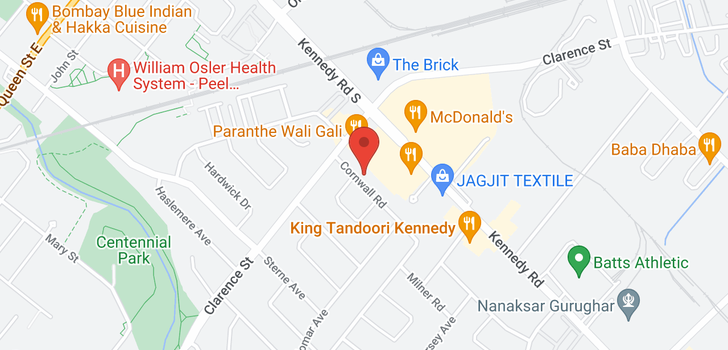 map of  13 Cornwall Rd