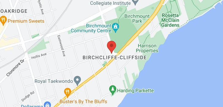 map of  52 Birchmount Rd