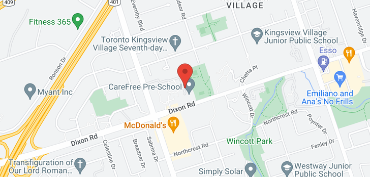 map of 601 370 Dixon Rd