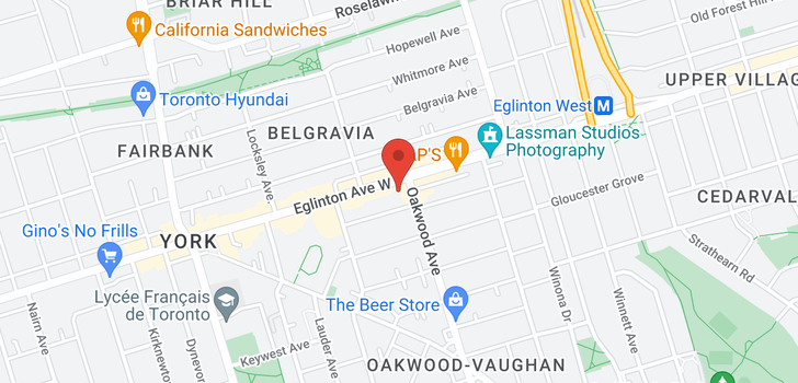 map of 304 1603 Eglinton Ave W