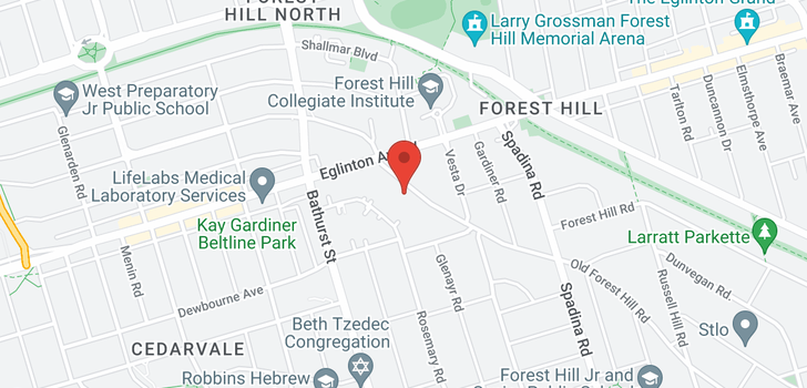 map of  120 Old Forest Hill Rd