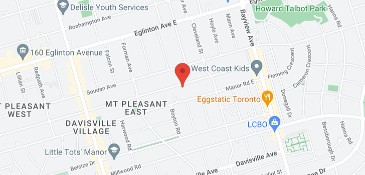 map of  547 Hillsdale Ave E