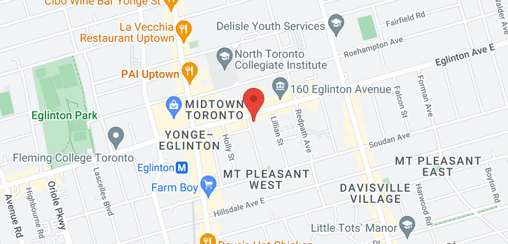 map of 632 89 Dunfield Ave
