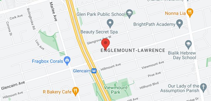 map of 157 Glen Park Ave