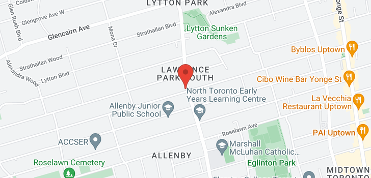 map of  1184 Avenue Rd