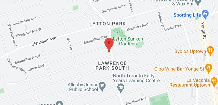 map of 1228 Avenue Rd
