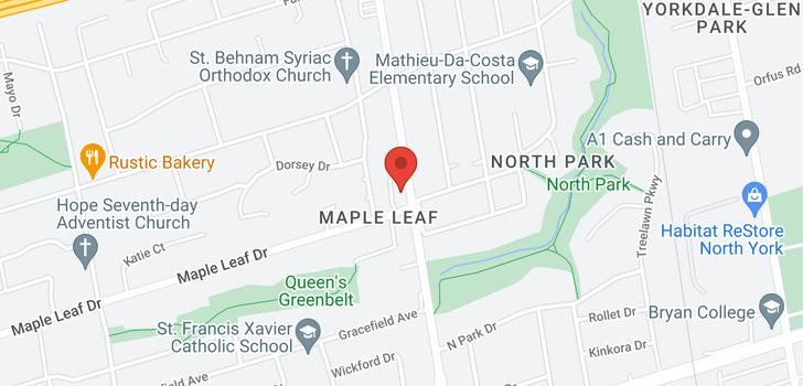 map of 405 2522 Keele St