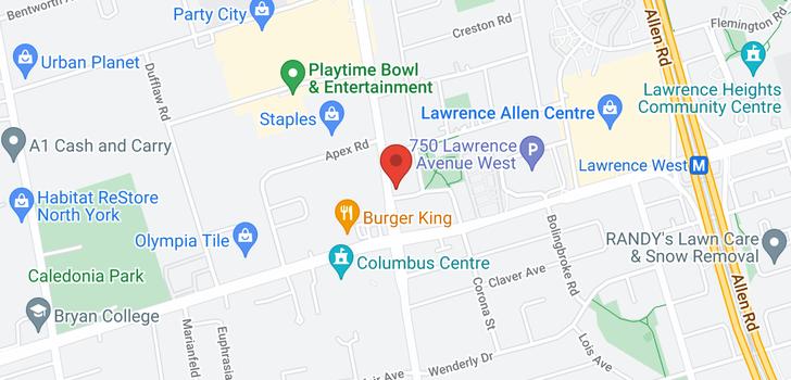 map of 530 3091 Dufferin St
