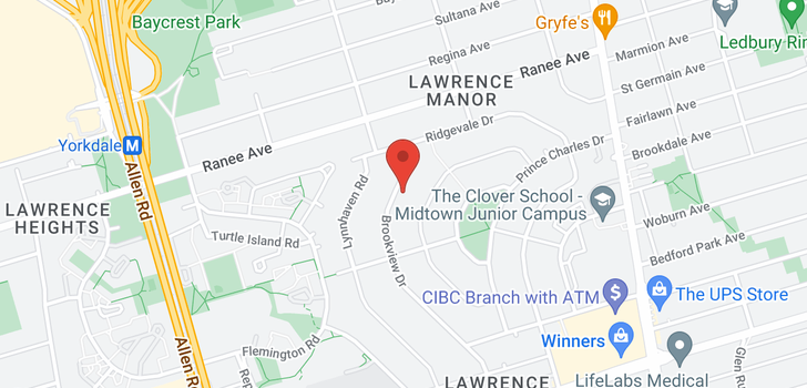 map of 101 Brookview Dr