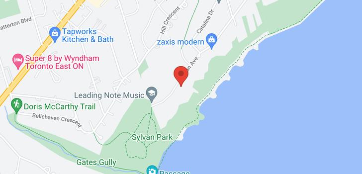 map of 83 Sylvan Ave