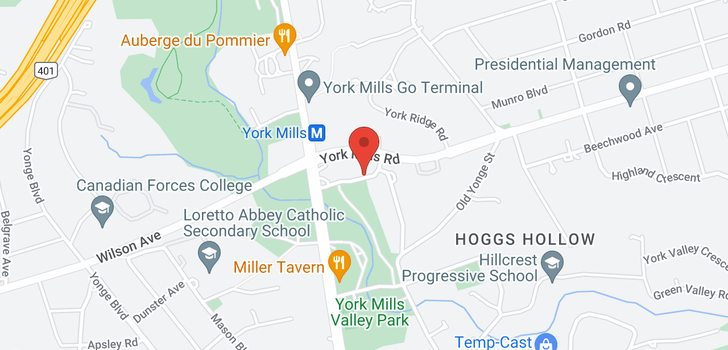 map of 406 10 Old York Mills Rd