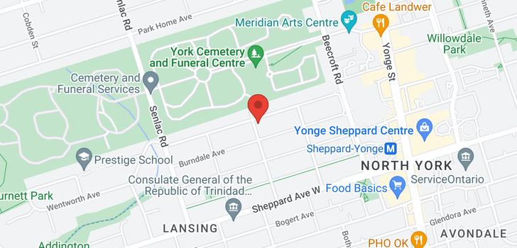 map of  157 Burnett Ave
