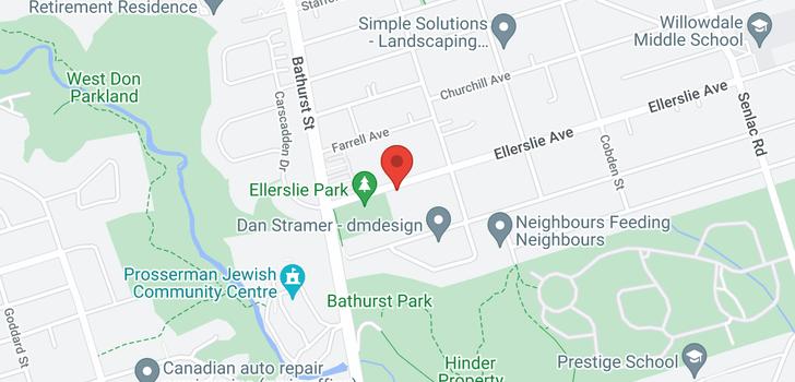 map of  475 Ellerslie Ave