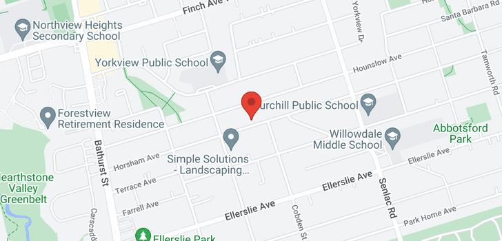 map of  338 Horsham Ave
