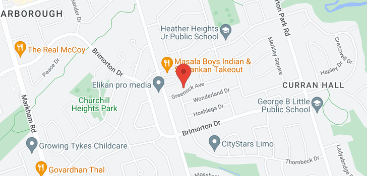 map of  14 Greenock Ave