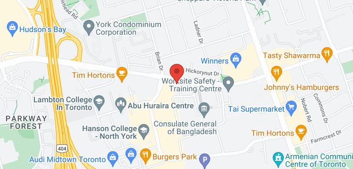 map of 301 50 Ann O'reilly Rd