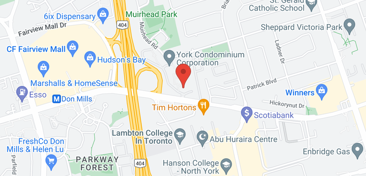 map of 1203 1900 Sheppard Ave E