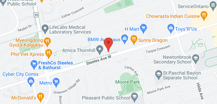 map of 506 520 Steeles Ave W