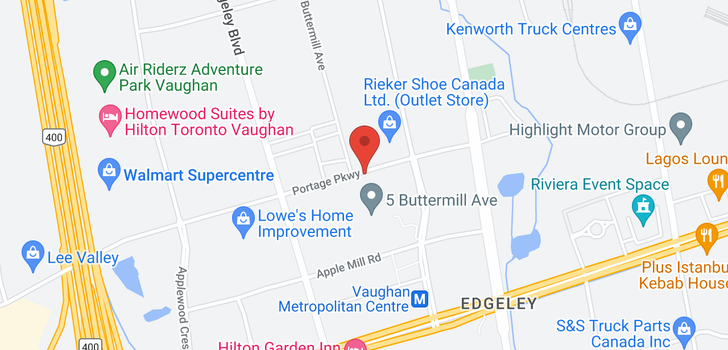 map of 4806 898 Portage Pkwy