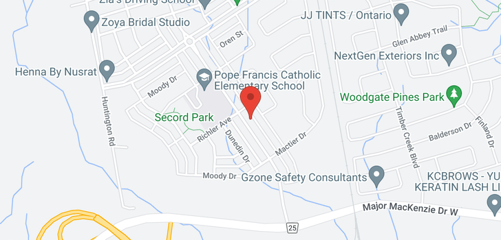 map of  157 Barons St