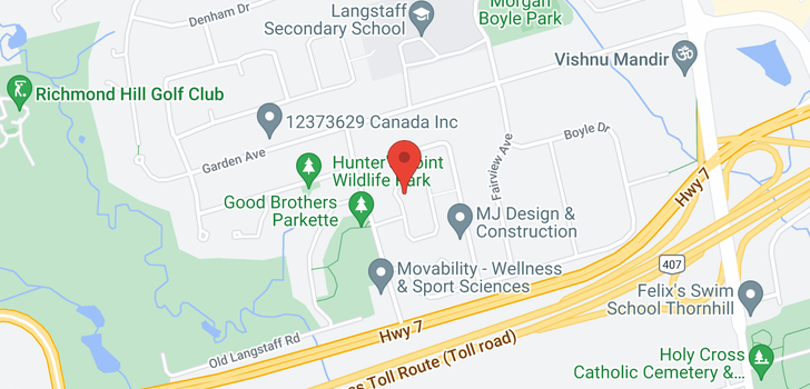 map of  19 Park Lane Circ