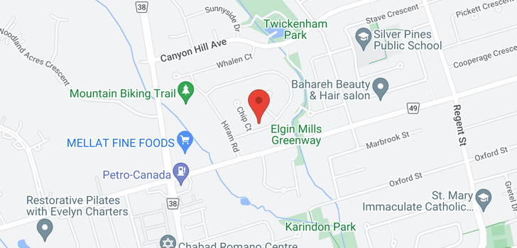 map of  18 Topham Cres
