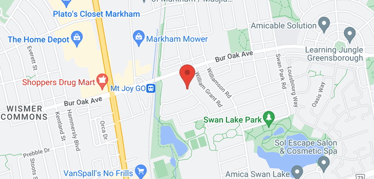 map of Markham 34 Osmond Appleton Rd