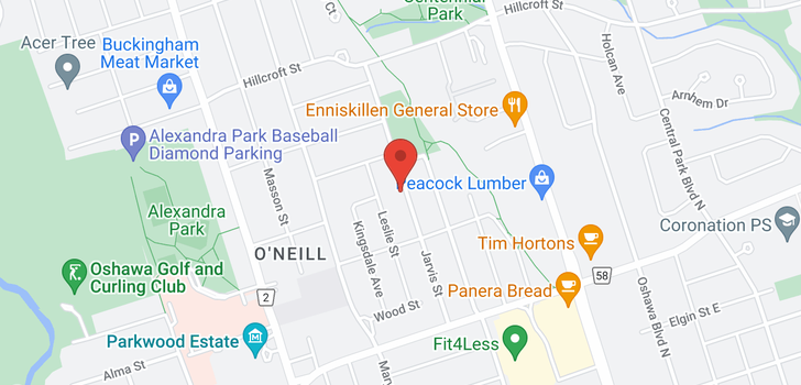 map of 378 Jarvis St