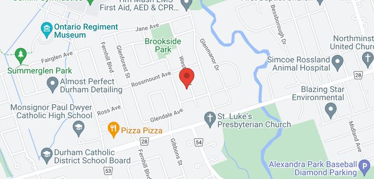 map of  736 Westdale St