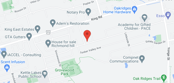 map of 94 Bond Cres